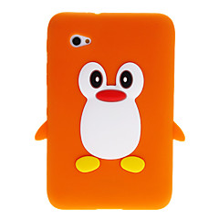 3D Cute Penguin Cartoon Soft Silicone Back Case Cover for Samsung Galaxy Tablet Tab 2 7.0 P3100