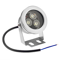 9W Underwater Lights 3 High Power LED 800 lm Cool White Waterproof AC 12 V