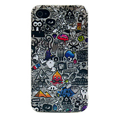 Multiple Elements PC Hard Back Cover for iPhone 4/4S
