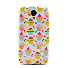 Pretty Strawberry Cakes Pattern TPU Soft Back Case Cover för Samsung Galaxy Galaxy S4 I9500