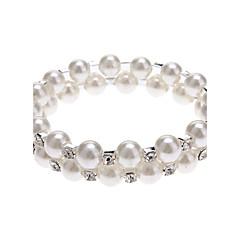 (1 Pc) Classic 6Cm Women'S 2 Layers Pearl Bracelet