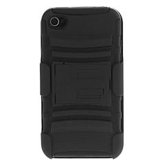2-in-1 Provedení ochranné pouzdro se stojánkem a svorkou pro iPhone 4/4S (různé barvy)