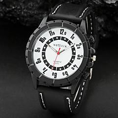 Blanc Noir chiffre cadran noir bande de silicone Sport Montre à quartz analogique pour homme