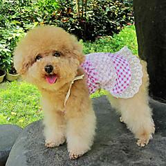 Atractivo encantador cheques Falda de encaje lindo para Mascotas Perros (diferentes tamaños)