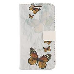 Bunte Schmetterlinge Zeichnung Muster-Leder-harter Plastikabdeckungs-Beutel für Samsung Galaxy Hinweis 2 N7100