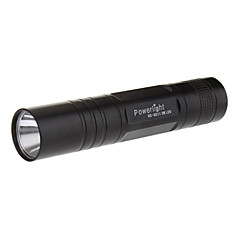 1W Mini Flashlight with Keychain (1xAA, Black)