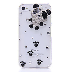 Lovely Panda Pattern Metal korut takakannen iPhone 4/4S
