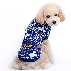 Christmas Style Ratón Flor patrón de suéter con capucha para mascotas perros (diferentes tamaños)