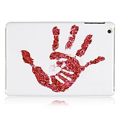 palmeira de plástico vermelho de volta caso para mini-ipad 3, mini iPad 2, iPad mini