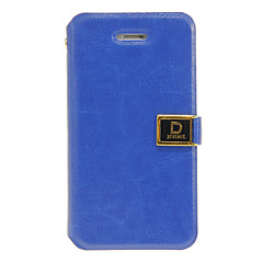 Solid Color Elegant PU Full Body Case with Stand and Card Slot for iPhone 4/4S (Assorted Colors)