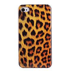 Joyland Orange Leopard Pattern ABS Back Case for iPhone 4/4S