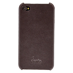 DEVIA Solid Color Litchi Pattern Genuine Leather Hard Case for iPhone 4/4S (Optional Colors)