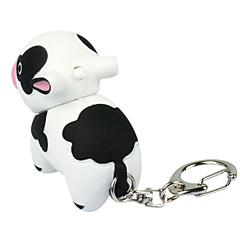 Style de vache en forme de LED en plastique Keychain animale
