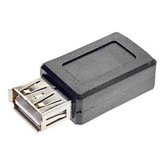 USB A Female to Mini USB Female Converter Adapter Black