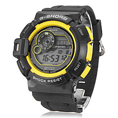 Men's Multifunctional Digital LCD Rubber Band Wrist Watch (Assorted Colors)