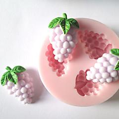 três furos uva pequena molde ferramentas artesanais açúcar moldes fondant molde frutas silicone de chocolate para bolos