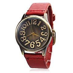 Reloj de las mujeres de cuero banda de cuarzo analógico muñeca (varios Band colores)