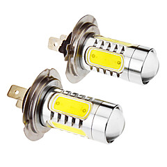 H7 7.5W 5-LED 6000K fredda lampadina LED bianco per l'automobile (12-24V, 2pcs)