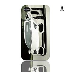 Roadster Pattern Hard Case 3-Pack Näytön suojainten iPhone 4/4S