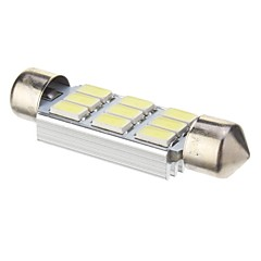 Pinol 3W 9x5730SMD 210LM 6000K Cool White Light LED pære til bil (DC 12V, 41mm, 1stk)