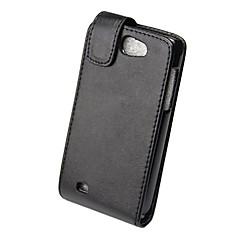 elegant pu læder fulde krop flip case cover til Samsung Galaxy I8150-black
