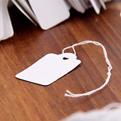 500pcs 26x15mm Paper Label Tie String Price Tag