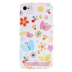 Joyland Korte Strokes Butterfly ABS Terug Case voor iPhone 4/4S (assorti kleur)