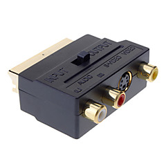 SCART Composite 3RCA S-Video AV TV Audio Adapter