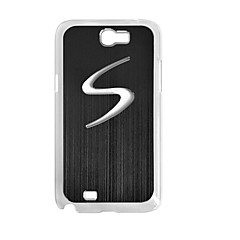 S Pattern värinvaihto LED-salama valo Metal Hard Case for Samsung Note 2 N7100 (Assorted Colors)