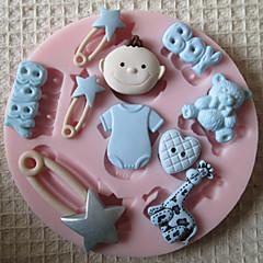 3d menino molde ferramentas artesanais açúcar moldes fondant molde brinquedo do bebê silicone de chocolate para bolos