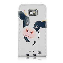 Een mooi melkkoe Patroon PU Leather Full Body Case voor Samsung Galaxy S2 I9100