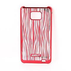 Stripe Pattern Radium Carving Hard Case for Samsung Galaxy S2  i9100