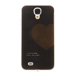 Svart Jord hjärta mönster plast skyddande baksidafallet täcker hårt för Samsung Galaxy S4 I9500