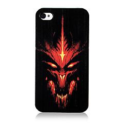 Original Anger Demon Pattern Transparent Frame Back Case for iPhone 4/4S