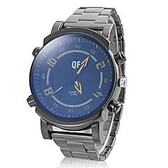 Men's Fashion Round Dial Alloy Band Quartz Analog Wrist Watch Cool Watch Unique Watch