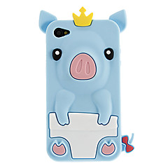 Little Pig silikon beskyttende etui for iPhone 4/4S (assorterte farger)