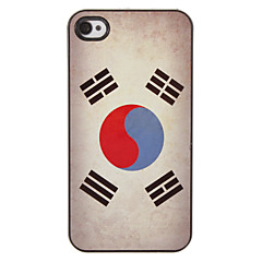 Korean Flag Pattern PC Hard Case with 3 Packed HD Screen Protectors for iPhone 4/4S