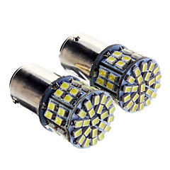 1157 5W 50x3020SMD 350LM 6000K Cool White Light LED lampa för bil (12-24V, 2 st)