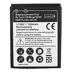1500mAh mobiltelefon batteri för HTC My Touch 4G/Merge/42100 6400/Thunder bult 4G