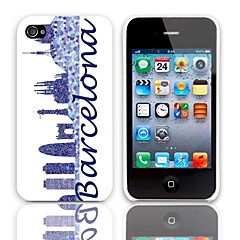 Special Design Barcelona Style Hard Case with 3-Pack Screen Protectors for iPhone 4/4S