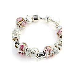 Sweet 6.3cm Women's white Crystal Strand Bracelet(1 Pc)