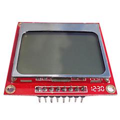 84 * 48 nokia 5110 Module LCD avec rétro-éclairage blanc pcb rouge pour (pour Arduino) tk0651