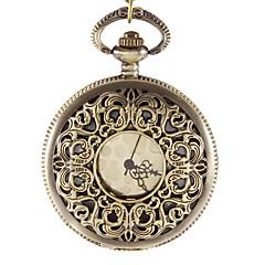 לשני המינים בסגנון המערבי וינטג לגלף סגסוגת הארד קוורץ אנלוגי שעון כיס
