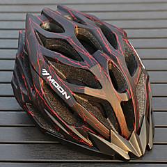 MOON Cycling Sort og rød PC / EPS 27 Vents Light cykelhjelm