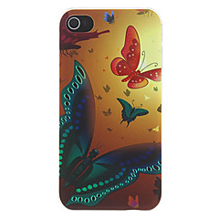 Motyle Fly wzoru Matte Świtu Stworzone PC Hard Case do iPhone 4/4S