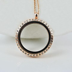 Popular and Fashion Stainless Steel Pocket Pendant  with Diamonds