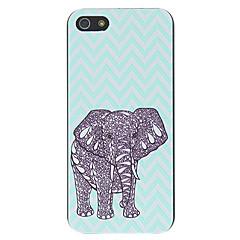Padrão Elefante Papel-cut Hard Case para iPhone 5/5S PC