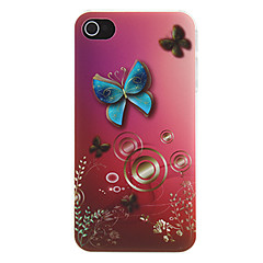 Vivid Butterfly with Gradient Color Background Pattern Matte Designed PC Hard Case for iPhone 4/4S