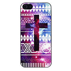 Colorful Cross Pattern Aluminous Hard Case for iPhone 5/5S