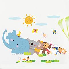 벽 동물 어린이 방 침실 배경 벽 장식 방수 포스터 스티커